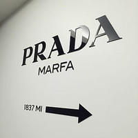 "PRADA MARFA 3D sticker decal home decor acrylic wall installation ""Gossip Girl"""