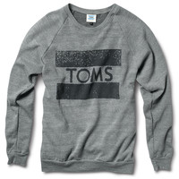 TOMS TOMS Crew Neck Sweatshirt Grey