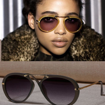 High Quality Oval Sunglasses Vintage Luxury Brand Men Women Sunglasses 2017 Fashion UV400 Mirrors Eyewear Oculos Gafas De Sol
