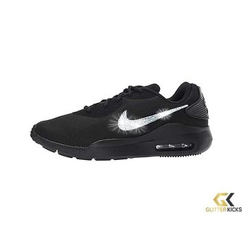 Womens Nike Air Max Oketo + Crystals - Black/Black/Black