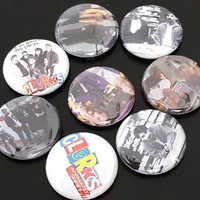 "8 Clerks 1"" Buttons/Pinbacks/Badges Kevin Smith Dante Randal Jay Silent Bob Movies Culture Rare"