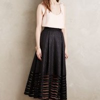 Sachin + Babi Lace Blooms Ball Skirt in Black Size: