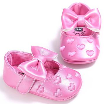 Baby Girl Pink Heart Valentine's Day Shoes