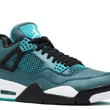 PEAPN Ready Stock Nike Air Jordan 4 Retro 30th Teal White Black Basketball Sport Shoes
