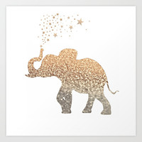 GATSBY ELEPHANT Art Print by Monika Strigel