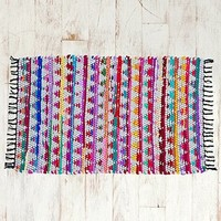 Tri-Weave Colourful 2x3 Rug in Grey - Urban Outfitters