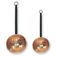 Copper Ladles, Set of 2, Dinner Serving Utensils