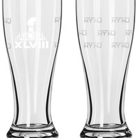 Boelter Brand Super Bowl XLVIII Mini Pilsner Glass