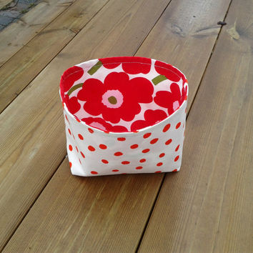 Marimekko Fabric Basket, Fabric Organizer, Fabric storage bin, Gift basket, Storage container