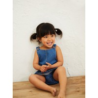 BASIC DENIM PINAFORE DRESS