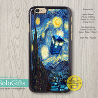 Doctor Who Van gogh paiting iPhone 6 case iPhone 6 Plus case, iPhone 5 case, iPhone 5S Case, Samsung Galaxy S5 S4 S3 Note 2 Note 3, A0255