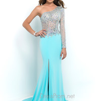 One Sleeve Blush Prom Dress 9992