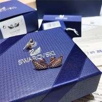 HCXX S002 SWAROVSKI Classic Rose Gold Swan Crystal Perforated Stud Earrings