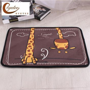 Autumn Fall welcome door mat doormat [byetee] Cartoon Style Entrance Door Carpet Kitchen Mat PVC Rugs for Bathroom Non-slip Easy Cleaning 3 Sizes s Toilet AT_76_7