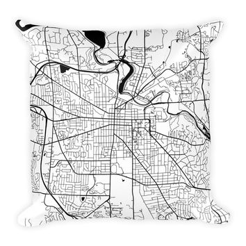Ann Arbor Map Pillow – Modern Map Art