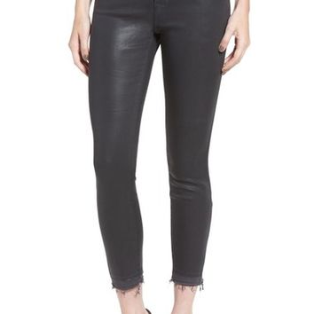 J Brand 'Alana' Coated High Rise Crop Skinny Jeans | Nordstrom