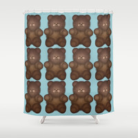 Brown Bear Shower Curtain by KCavender Designs