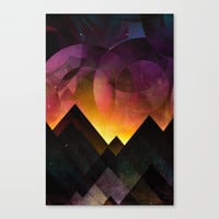 Whimsical mountain nights Canvas Print by HappyMelvin