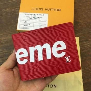 DCCK LOUIS VUITTON SUPREME WALLET MEN WOMEN PURSE WALLETS