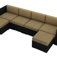 Harmonia Living Urbana 6 Piece Sectional Set, Heather Beige