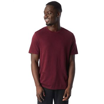 Alternative Apparel - The Outsider Heavy Wash Jersey Currant T-shirt