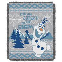 Disney's Frozen Snow Expert  Triple Woven Jacquard Throw (48x60)