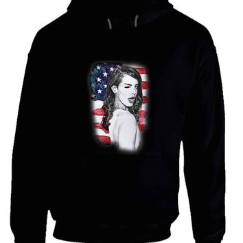 Lana Del Rey American Fan Art Illustrations Hoodie