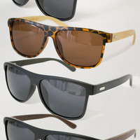 Polarized Wood Frame Sunglasses