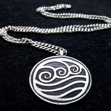 Avatar Water Bender Necklace by boxinghobo on Etsy
