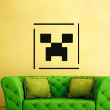 Minecraft Inspired Wall Decal Creeper Face
