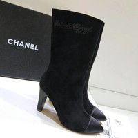Chanel Women Fashion Casual Heels Shoes Boots