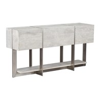 Uptown Whitewashed Solid Wood Console Table