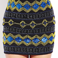 Shine On Beaded Mini Skirt