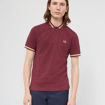 Fred Perry Made In England M2 Single Tipped Polo Shirt Burgundy