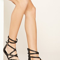 Strappy Faux Leather Sandals