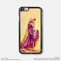 Rapunzel Oil Painting Disney iPhone Case Black Hard case 803
