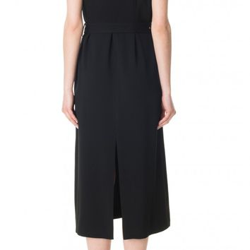Tibi Savanna Crepe Midi Dress