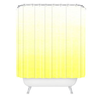 Social Proper Lemon Ombre Shower Curtain