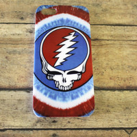 Grateful Dead, red, blue, and white, tie dye, sunflower, Jerry Garcia,  iPhone 5 case/cover By: Hot2own
