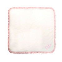 Personalized Pink Baby Blanket Girls Embroidered Soft Cotton