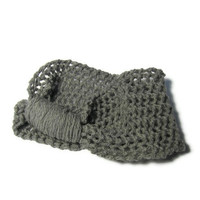 Hand Knit Headband/Ear Warmer - Gray