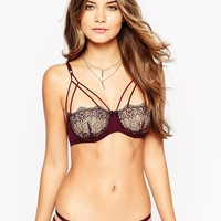 ASOS   ASOS Valentina Corded Lace Caged Underwire Bra at ASOS