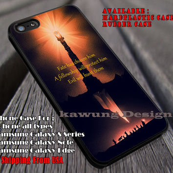 Mordor Poster Art | LOTR | Quote iPhone 6s 6 6s+ 6plus Cases Samsung Galaxy s5 s6 Edge+ NOTE 5 4 3 #movie #TheLordofTheRings ii