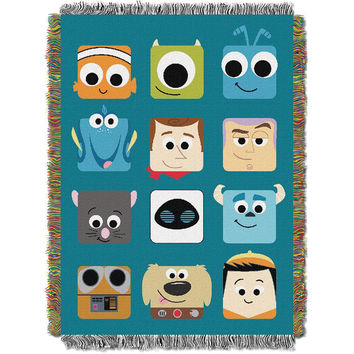 Disney Pixar Pixarland 051  Woven Tapestry Throw Blanket (48x60)