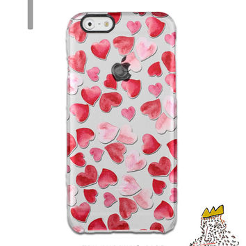 iPhone SE Case iPhone 6S Plus Case Heart Pattern iPhone 5s Case Hearts iPhone 6 Case Red Samsung S6 TPU Case Galaxy S6 iPhone 6 TPU Case C17