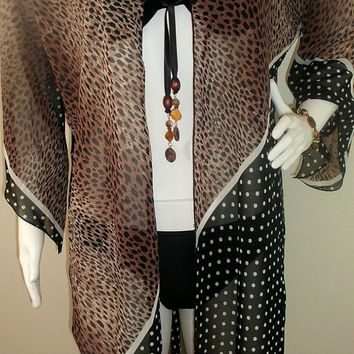 Leopard and spotted Pareo, Beach Sarong, Sarong Dress, Beach Cover up, Ladies Summer Scarf, Women fashion accessory, Sarong Pareo Wrap