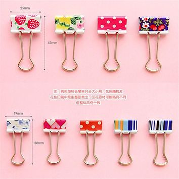 Cute Cartoon Kawaii Heart Dot Metal Clip Creative Strawberry Clips For Kids School Supplies Korean Stationery Free Shipping 683