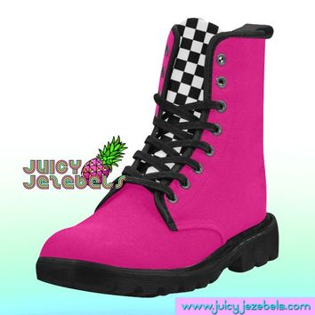 SIMPLE NEON Combat Boots Rave Clothing Music Festival Clothing Rave Outfit Women Burning Man Clothing Rave Wear Psychedelic Clothing