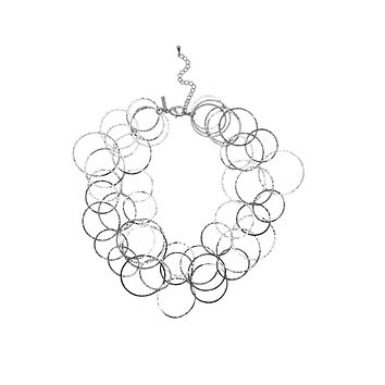 Silver Lindy Links Layered Necklace