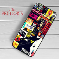 Broadway Musical Collage -sarw for iPhone 6S case, iPhone 5s case, iPhone 6 case, iPhone 4S, Samsung S6 Edge